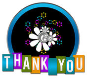 Thank You Black Circle Square Royalty Free Stock Image
