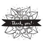 Thank you black flowers Stock Photo