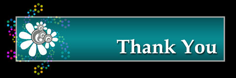 Thank You Black - Horizontal Royalty Free Stock Photo