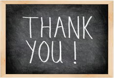 Free Thank You Blackboard Stock Photo - 21805430