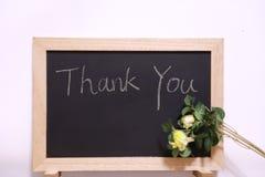 Thank you blackboard Royalty Free Stock Photography