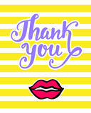 Thank You bright card in retro 80s, 90s pop art style Stock Photography