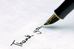 Thank you on a business letter royalty free stock photos