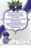 Thank you Business winter holiday greeting card Stock Photo