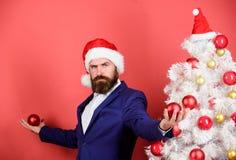 Thank you. businessman decorate new year tree. man celebrate xmas. happy holidays. winter season sales. merry christmas