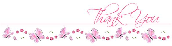 Thank You Butterfly Card Stock Photo
