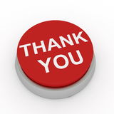 Thank you button. Computer render Stock Images