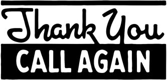 Thank You Call Again 5 Royalty Free Stock Photo