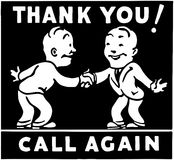 Thank You Call Again 3 Stock Images