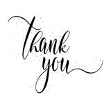 Thank You calligraphy sign. Royalty Free Stock Photography
