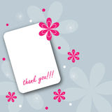 Thank you card. Illustration of a floral thank you card for your special occasion.EPS file available Royalty Free Stock Images