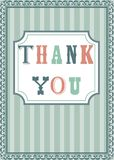 Thank you card. Illustration Stock Photo