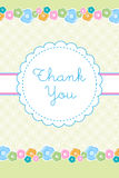 Thank you card. Illustration of thank you card with flower and texture Royalty Free Stock Image