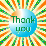 Thank you card. With flowers. Vector illustration Royalty Free Stock Photo