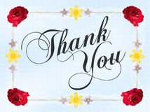 Thank You Card Royalty Free Stock Photos