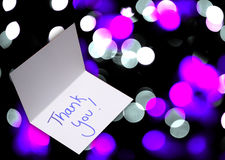 Thank you card on abstract background Royalty Free Stock Image