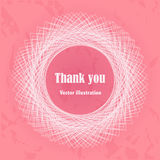 Thank you card. Abstract background. Stock Photography