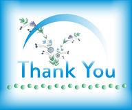 Thank you card. Background  illustration Royalty Free Stock Images