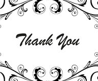 Thank you card. Background  illustration Royalty Free Stock Image