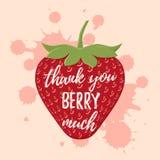 Thank you card, banner. Vector illustration. royalty free illustration