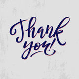 Thank You Card Calligraphic Inscription. Hand Royalty Free Stock Photo