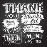 Thank You card with Chalkboard Background Royalty Free Stock Photo