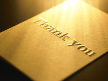 Thank you card. Close up on thank you card Stock Photography