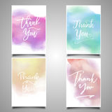 Thank you card collection Royalty Free Stock Photos