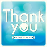 Thank You card Stock Image