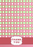 Thank You Card Design Stock Photo