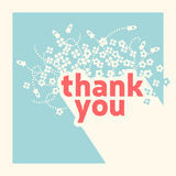 Thank you card design template Stock Image