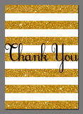 Thank you card design template Royalty Free Stock Photo