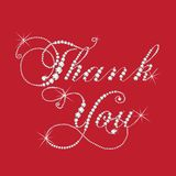 Thank you card diamonds jewels design vector image template. Design card logotype graphic background vector illustration