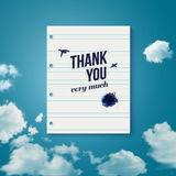 Thank you card for different occasions. Stock Images