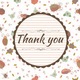 Thank you card. Floral frame Royalty Free Stock Photography