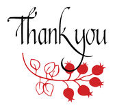 Thank you card with flower Stock Images