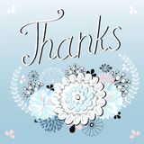 Thank you card , with font Royalty Free Stock Photo