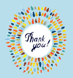 Thank you card with frame Royalty Free Stock Images