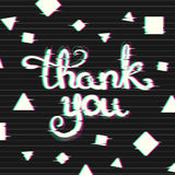 Thank You Card with Glitch Effect. Royalty Free Stock Photography