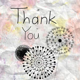 Thank you card Royalty Free Stock Photography