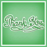 Thank you card, with handwritten letters Stock Photo