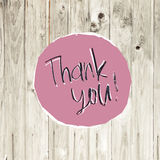 Thank You Card On Hardwood Texture. Vector Royalty Free Stock Photos