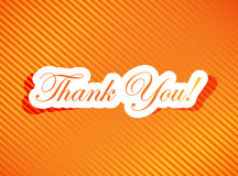 Thank you card illustration design Stock Photography