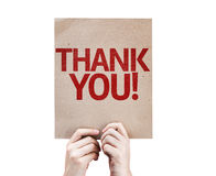 Thank You card isolated on white background Royalty Free Stock Photo