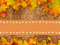 Thank You Card With A Leaves Background Royalty Free Stock Photo