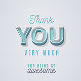 Thank You Card. Lovely Thank You card design with a vintage touch to help you express your gratitude in style vector illustration