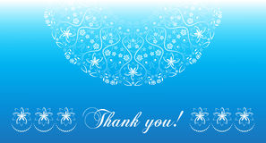 Thank you card. vector illustration