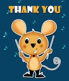 Thank you card mouse conducting music royalty free illustration