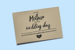 Thank You Card on my Wedding day. Stock Images