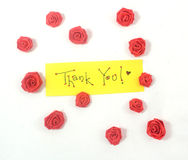 Thank you card. Saying thank you with love Royalty Free Stock Image